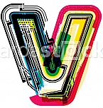 Colorful Grunge LETTER v