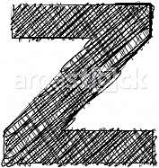 Hand draw font. LETTER Z
