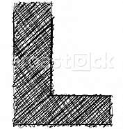 Hand draw font. LETTER L