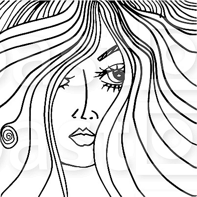 Beauty Salon Cover with Abstract beautiful woman face illustration on the background