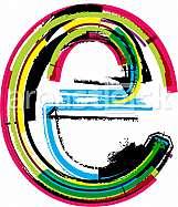 Font illustration, letter e