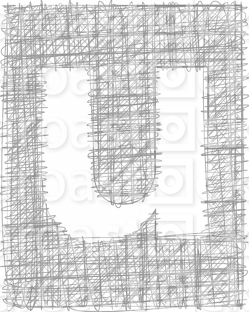 Freehand Typography Letter u