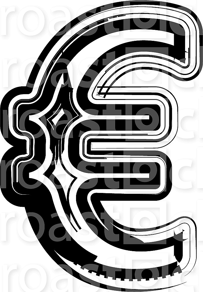 Abstract Euro sign