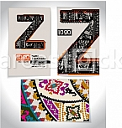 Ancient Business card design LETTER Z
