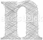 Freehand Typography Letter n
