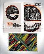 Ancient Business card design LETTER e