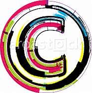 Colorful Grunge Font LETTER C