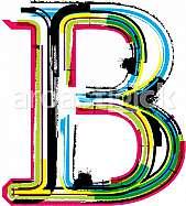 Font illustration, letter B
