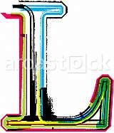 Font illustration, letter L