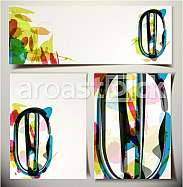 Artistic Greeting Card Font vector Illustration - Letter O