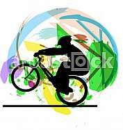 Abstract sketch of biker