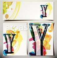 Artistic Greeting Card Font vector Illustration - Letter Y