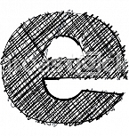 Hand draw font. LETTER e