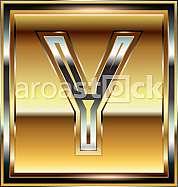 Ingot Font illustration Letter Y