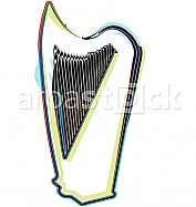 Abstract harp illustration