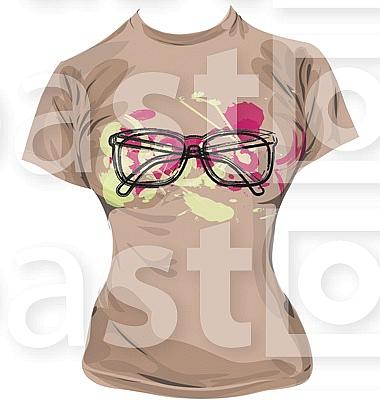 hipster T-shirt illustration