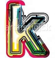 Colorful Grunge LETTER k