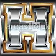 Fancy font Letter H