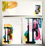 Artistic Greeting Card Font vector Illustration - Letter F