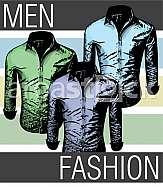 Drawing of Men fashion shirts