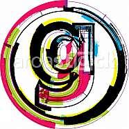 Colorful Grunge Font LETTER g