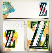 Artistic Greeting Card Font vector Illustration - Letter Z