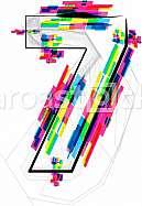 Font illustration, Number 7