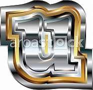 Fancy font Letter u