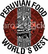 Peruvian food illustration
