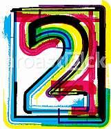 Colorful Grunge Font NUMBER 2