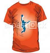 Basketball player tee illustration