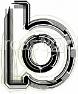 Font illustration. Letter b