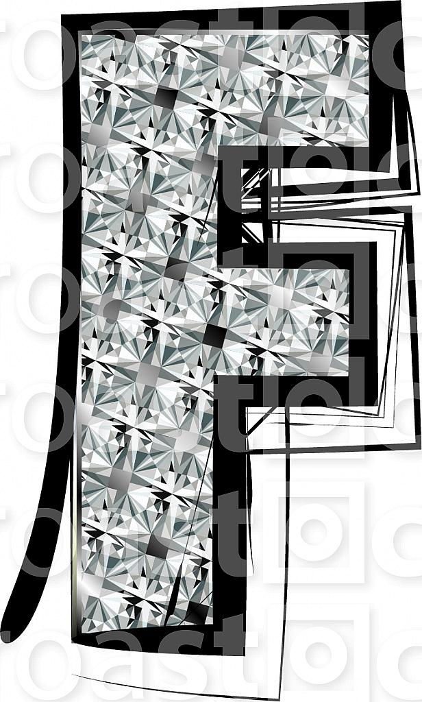 Diamond Font letter F