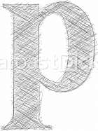 Freehand Typography Letter p