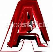 Artistic font letter A