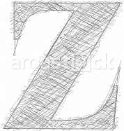 Freehand Typography Letter z