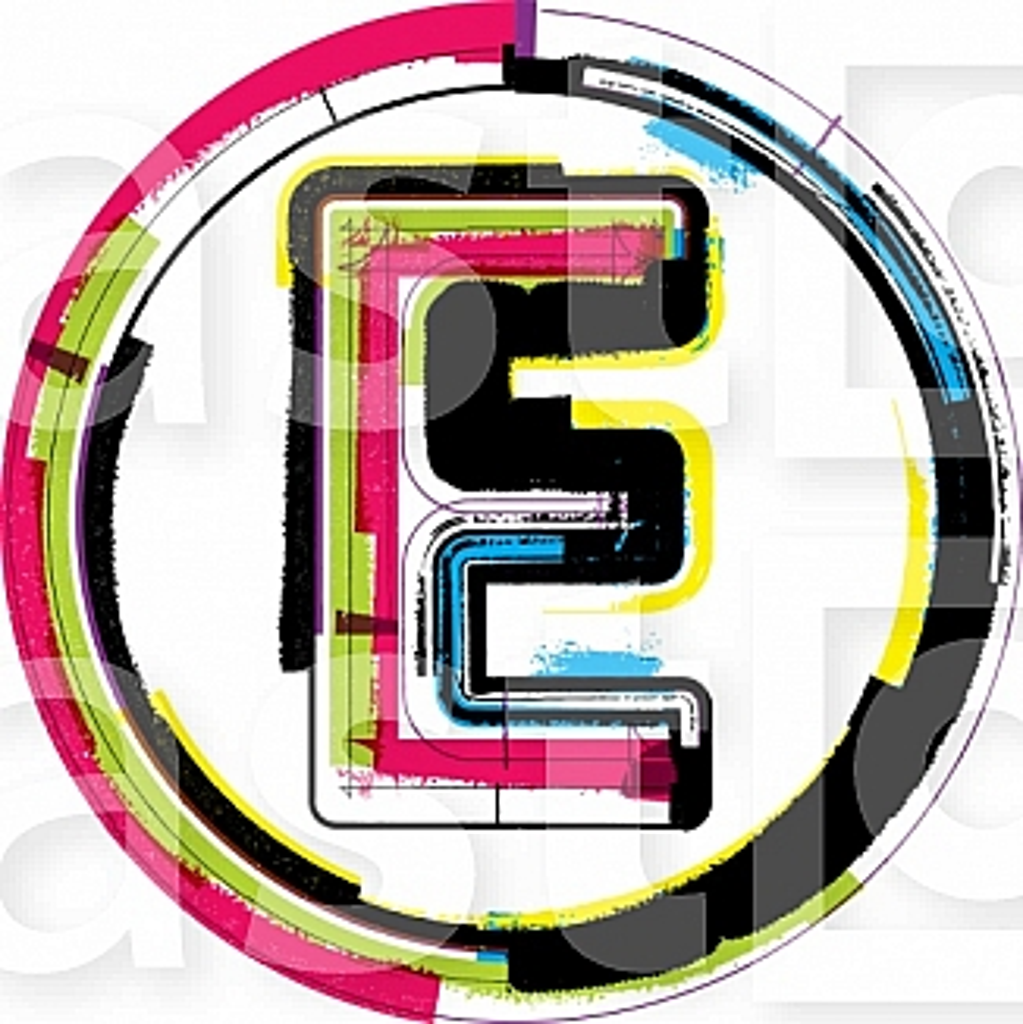 Colorful Grunge Font LETTER E