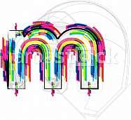 Font illustration, letter m