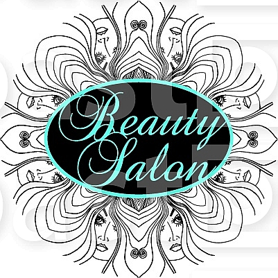 Beauty salon cover with abstract beautiful woman face for Abstract salon fayetteville ar