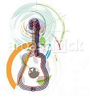 Abstract guitar illustration