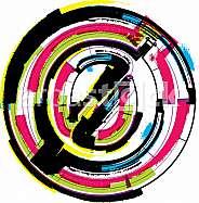 Colorful Grunge Font NUMBER 0