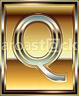 Ingot Font illustration Letter Q