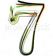 Organic Font illustration