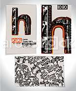 Ancient Business card design LETTER h