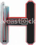 Font Illustration Letter H
