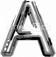 Grunge font. Letter A