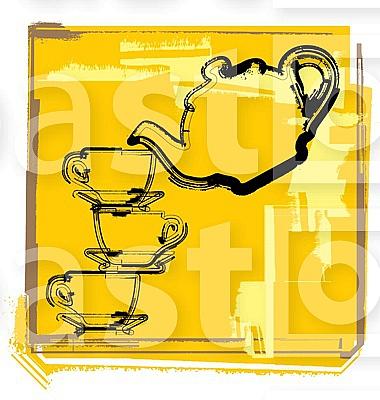 Teapot & Cup illustration