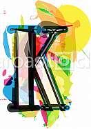Artistic Font - Letter K