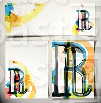 Artistic Greeting Card Font vector Illustration - Letter R