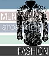 Drawing of Men fashion shirts